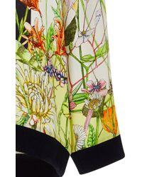 Swash London - Flora Meadow Edie Silk Sweatshirt - Lyst