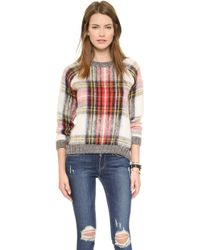 Sea Oversized Plaid Pullover  Multi - Lyst