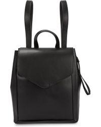 Loeffler Randall - Mini Black Leather Backpack - Lyst
