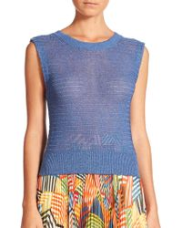 Alice + Olivia Anne Sleeveless Knit Top - Lyst