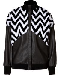 Emanuel Ungaro Mink and Leather Jacket - Lyst