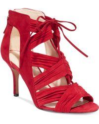 Nine West Red Galaxy Sandals - Lyst