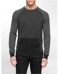 Calvin Klein White Label Classic Fit Diagonal Stripe Cotton Modal Sweater - Lyst