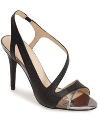 Nine West 'Delvin' Slingback Sandal black - Lyst