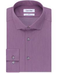 Calvin Klein Steel Non-Iron Slim-Fit Hairline Stripe Performance Dress Shirt - Lyst
