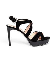 Giorgio Armani Suede High Heel Sandals - Lyst