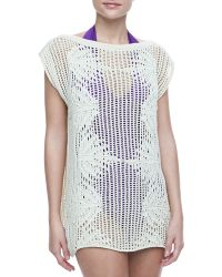 Jean Paul Gaultier Palmier Cotton Crochet Tunic - Lyst
