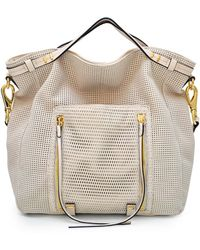 She + Lo - Silver Lining Leather Satchel - Lyst