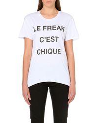 Zoe Karssen Le Freak Jersey T-shirt - Lyst