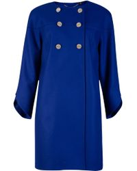 Ted Baker Colete Double-Breasted Coat - Lyst