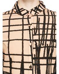 Chictopia - Stroke Print Silk Shirt - Lyst