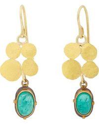 Judy Geib Emerald Gold  Oxidized Silver Squash Earrings - Lyst