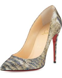 Christian Louboutin Pigalle Follies Glitter Red Sole Pump - Lyst