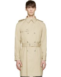 Moncler Gamme Bleu Beige Classic Trench Coat - Lyst