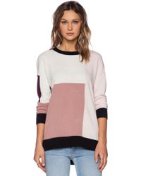 Kate Spade Colorblock Slouchy Sweater - Lyst