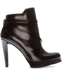 French Connection Black Serena Booties - Lyst