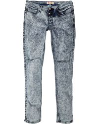 River Island Light Acid Wash Rip Sid Skinny Stretch Jeans - Lyst