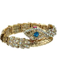 Betsey Johnson Creepshow Toc Snake Wrap Stretch Bracelet - Lyst