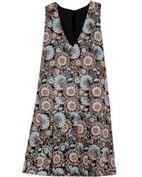J.Crew - Collection Metallic Floral-Jacquard Dress - Lyst