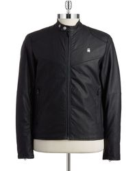 G-Star RAW Faux Leather Moto Jacket - Lyst