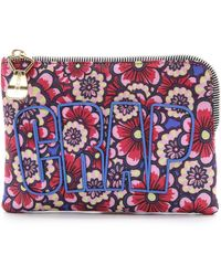 House of Holland - Floral Nylon Pouch - Flower Wallpaper - Lyst