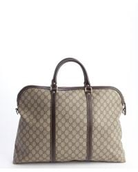 Gucci Brown Gg Plus Oversized Tote - Lyst