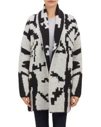 Barneys New York Folkloric Oversized Open-front Cardigan - Lyst