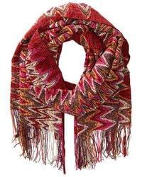 Missoni Red scarves - Lyst