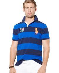 Ralph Lauren Polo Us Open Custom Striped Polo Shirt Slim Fit - Lyst