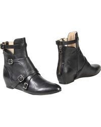 Elizabeth And James Black Ankle Boots - Lyst