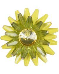 Stefanel Resin Flower Brooch - Lyst