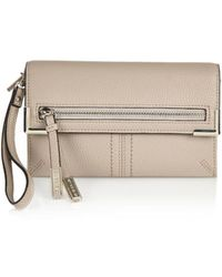 River Island Grey Fold Over Zip Purse - Lyst