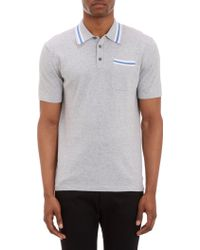 Michael Kors Gray Contrasttipped Polo - Lyst