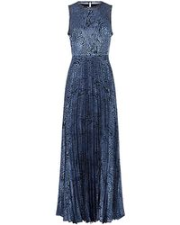Reiss Angelo Pleated Maxi Dress - Lyst