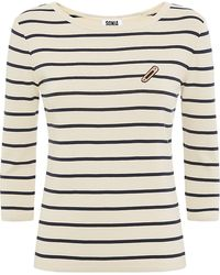 Sonia By Sonia Rykiel Striped Safety Pin Top - Lyst