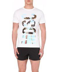 Moschino Palm-Tree Logo T-Shirt - For Men - Lyst