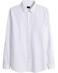 H&M Striped Cotton Shirt - Lyst