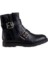 Luxury Rebel Cleary Biker Boot Black Leather - Lyst