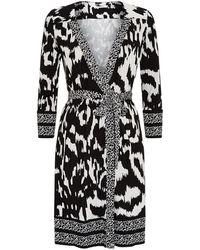 Diane von Furstenberg 'Zoe' Dress black - Lyst
