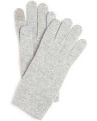 Portolano Heather Grey Cashmere Itouch Gloves - Lyst