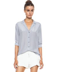 Equipment Adalyn Menswear Stripe Silk Blouse - Lyst