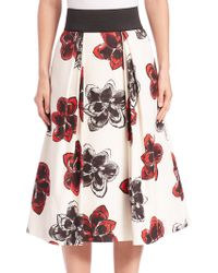Milly | Full Floral Skirt | Lyst