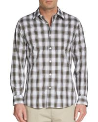 Michael Kors Macauley Plaid Cotton Shirt - Lyst