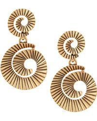 Oscar de la Renta Goldplate Spiral Earrings - Lyst