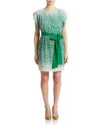 Eliza J Belted Shift Dress green - Lyst
