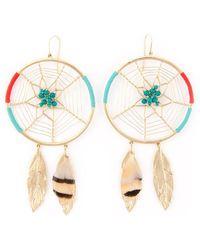 Aurelie Bidermann Dream Catcher Earrings - Lyst
