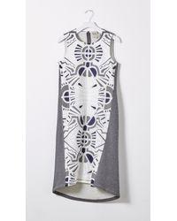 Sea Lace & Jersey Combo Dress - Lyst