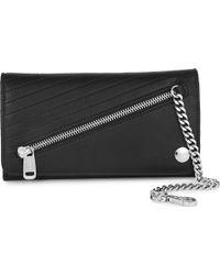 Jean Paul Gaultier Rabat Leather Wallet Black - Lyst