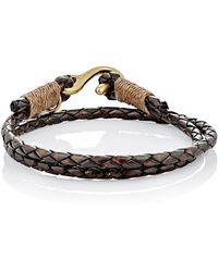Caputo & Co. - Braided Leather Double-wrap Bracelet - Lyst