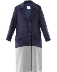 Richard Nicoll | Bi-Colour Wool Coat | Lyst